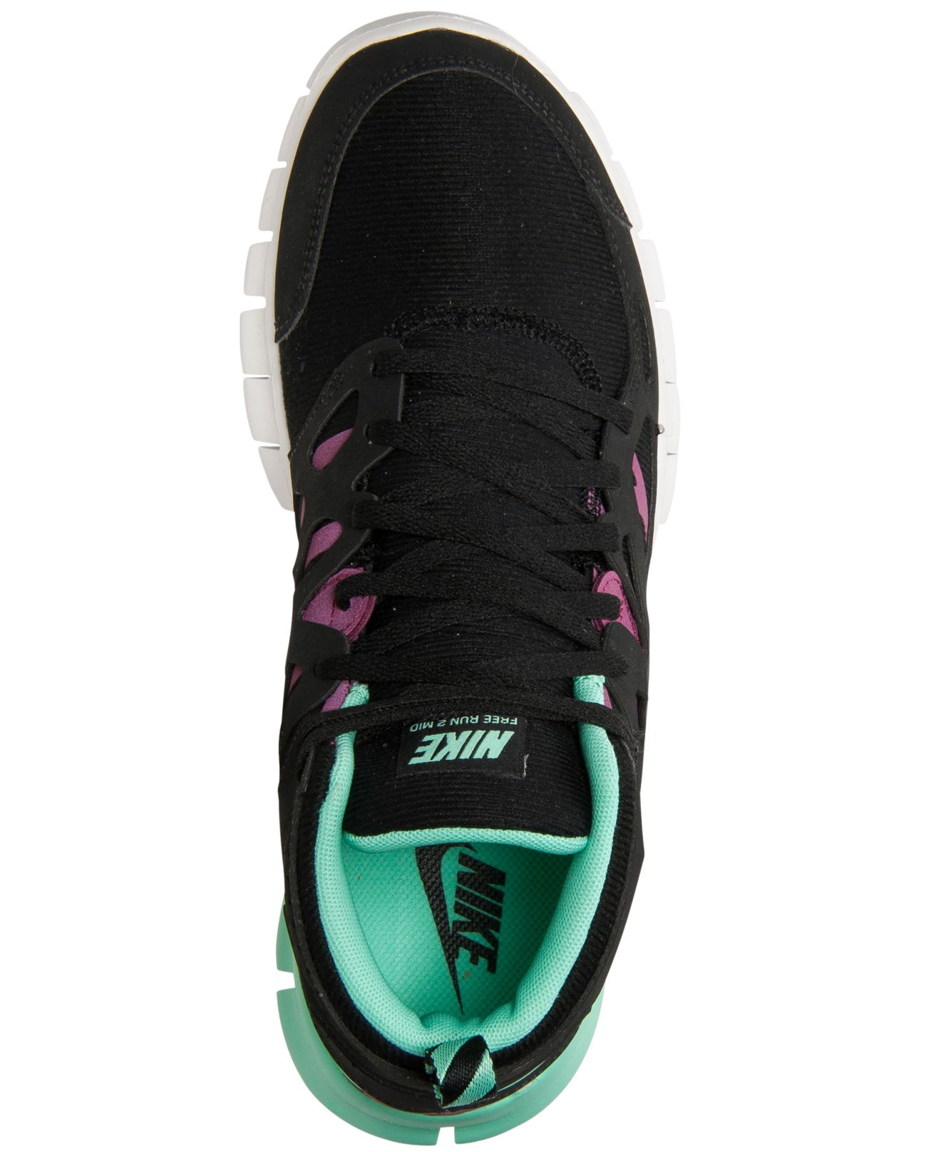 c336e7e531644 ... closeout lyst nike womens free run 2 mid sneakerboot from finish line  in black f9e91 c58aa