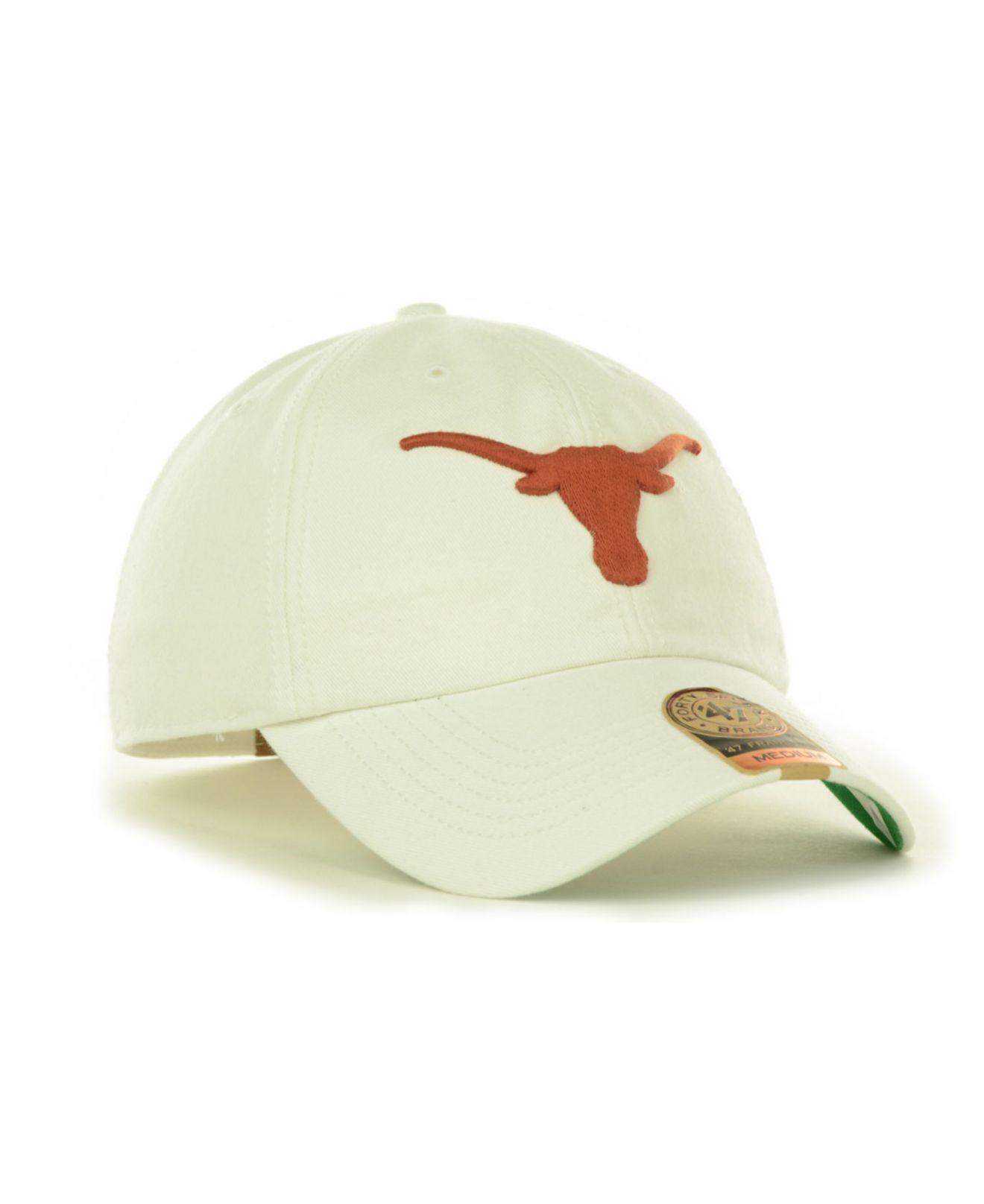 804a502496e6b ... czech lyst 47 brand texas longhorns franchise cap in white for men  ab21c bb6f6