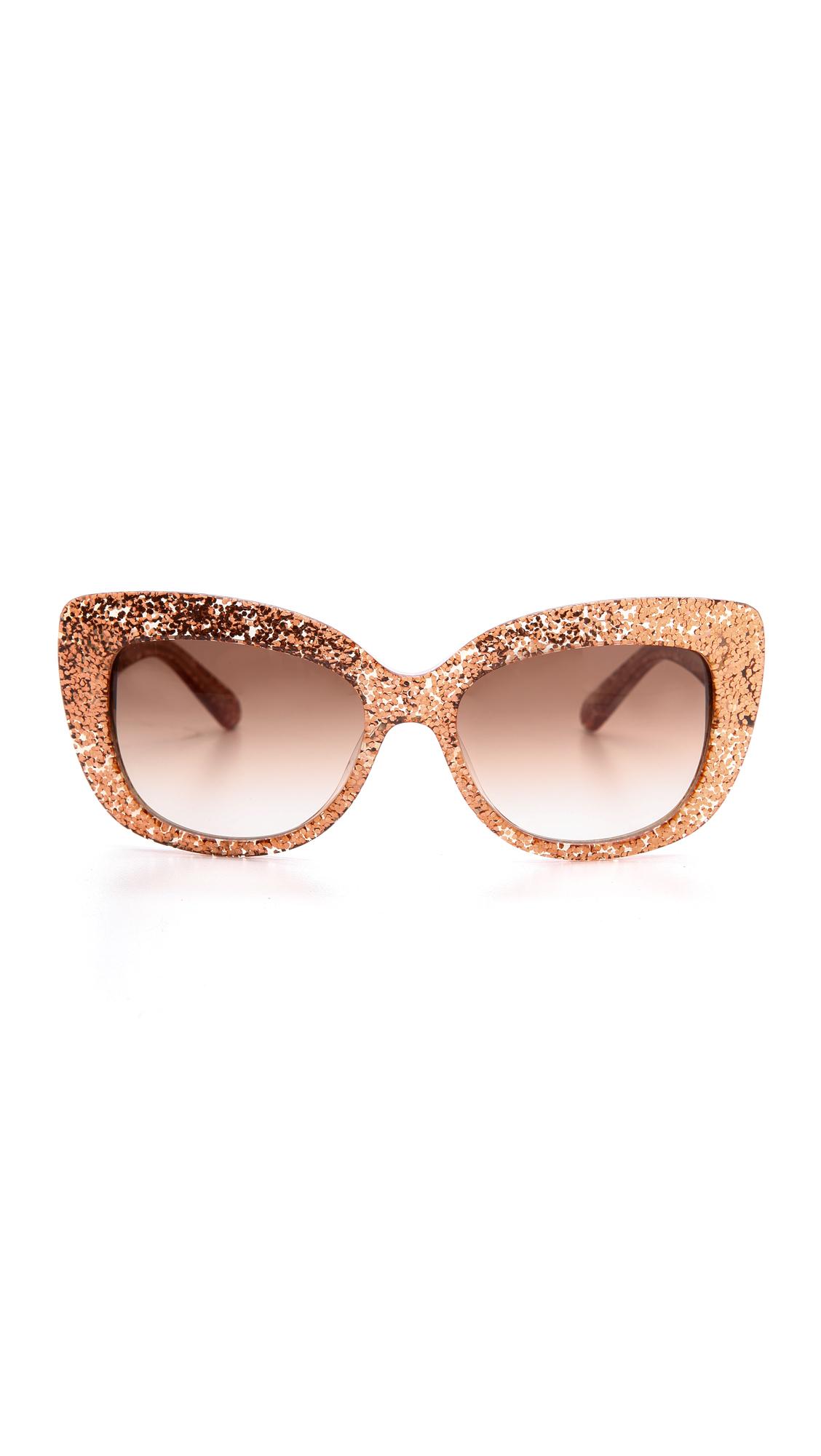 85d9d99d12 Kate spade ursula glitter cat eye sunglasses in pink lyst jpg 1128x2000 Kate  spade frames with