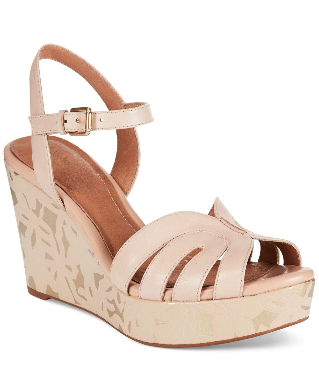 clarks artisan s amelia page platform wedge sandals