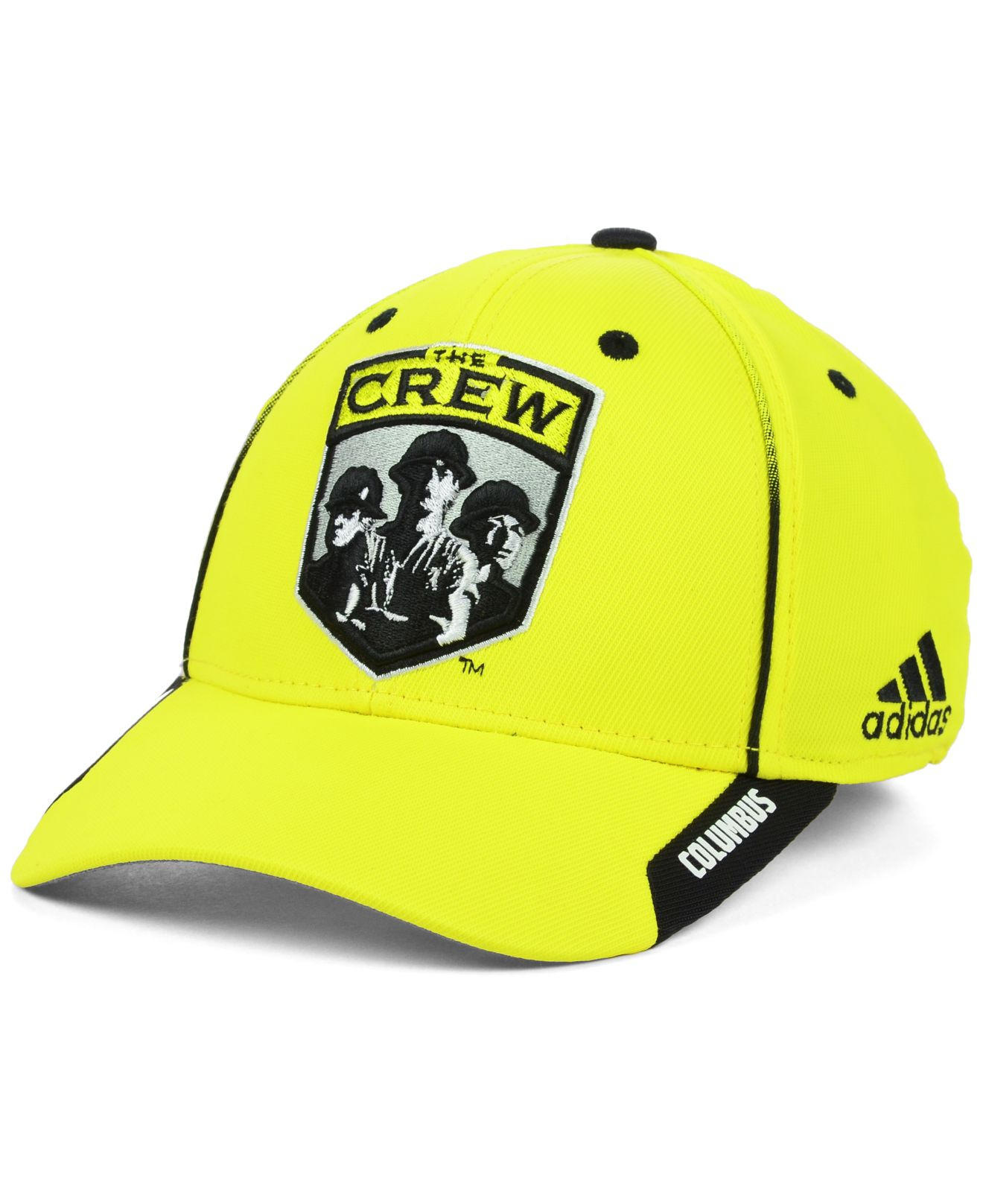 free shipping dd8a4 89d8a ... new arrivals lyst adidas columbus crew mls mid fielder cap in yellow  for men 42f65 79f78