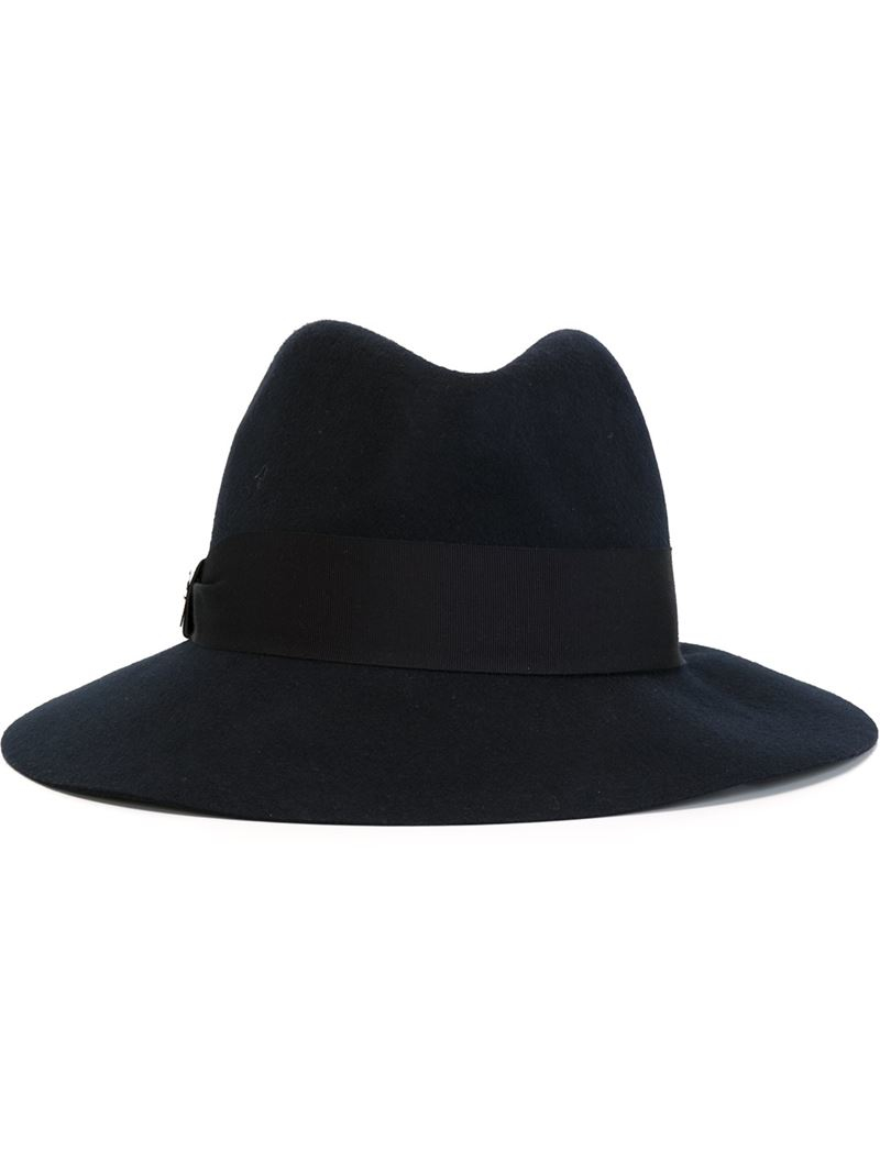 Emilio Pucci Contrasted Band Fedora Hat in Blue for Men - Lyst 8dfb827b02bb