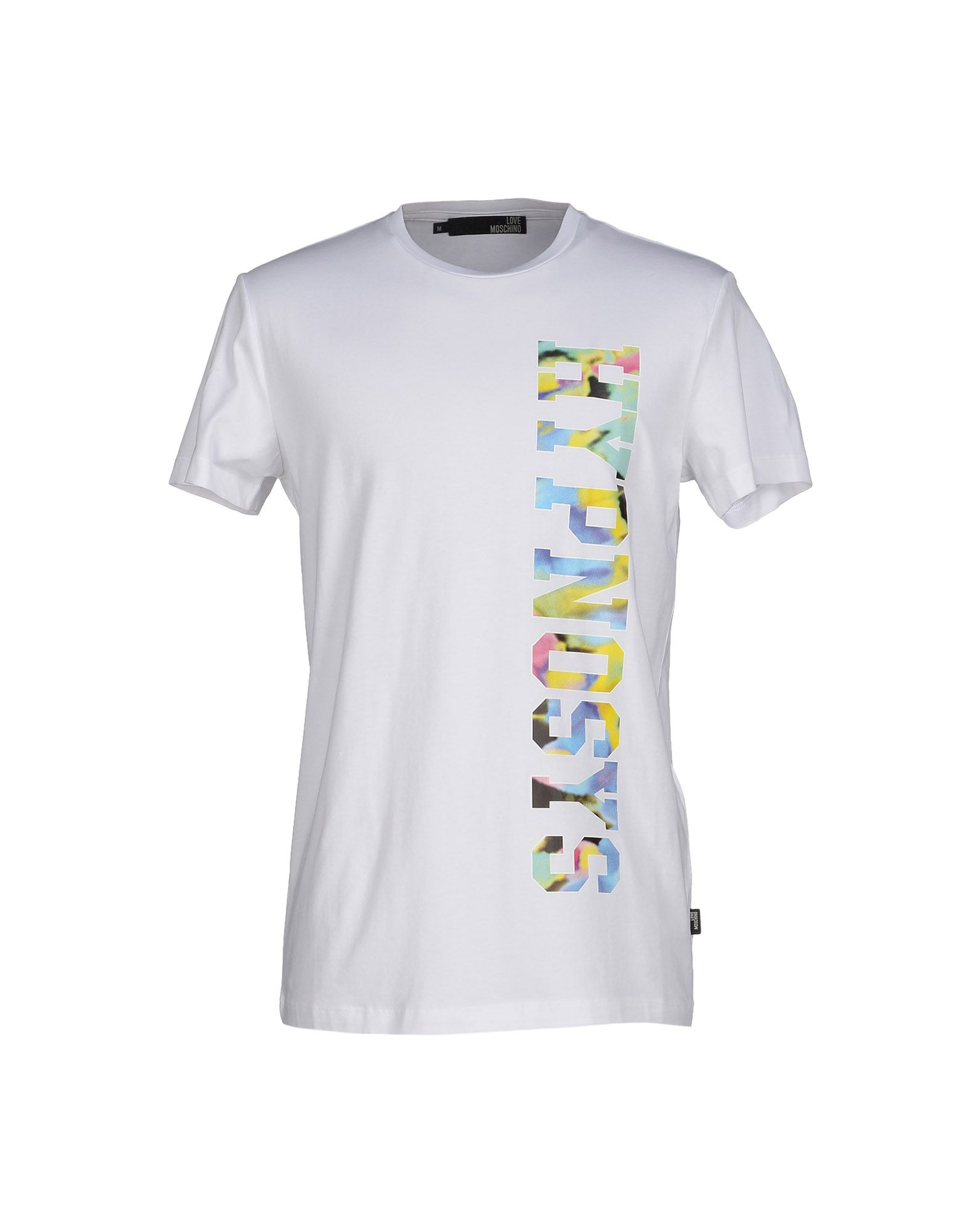 love moschino t shirt in white for men lyst. Black Bedroom Furniture Sets. Home Design Ideas