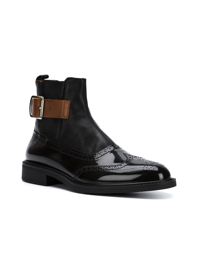 vivienne westwood buckled chelsea boots in black for