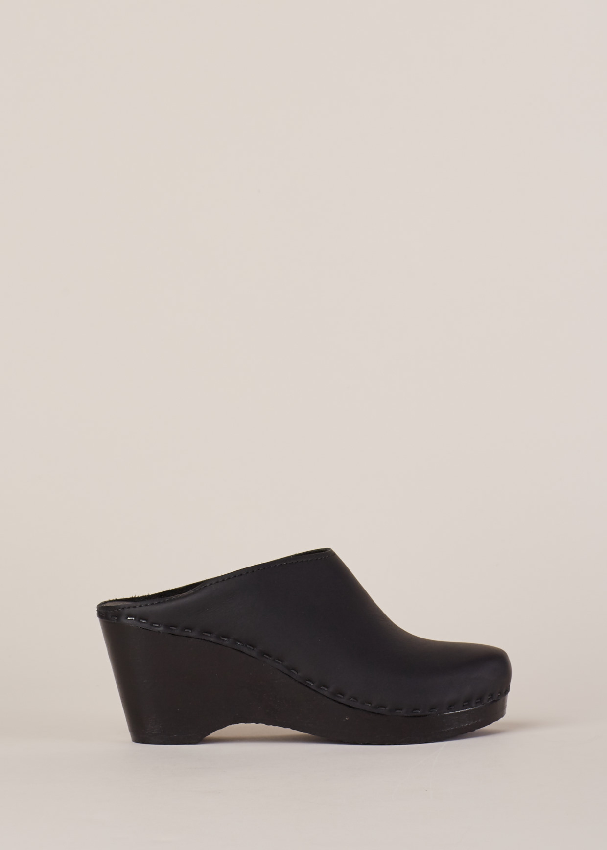 01929328f69 Lyst - No. 6 Black   Black New School Clog Wedge in Black