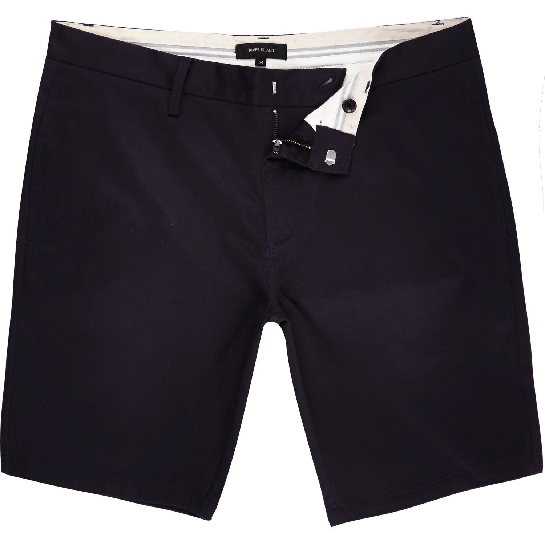 Mens Light Brown tape side slim fit chino shorts River Island yrRon0Igfv