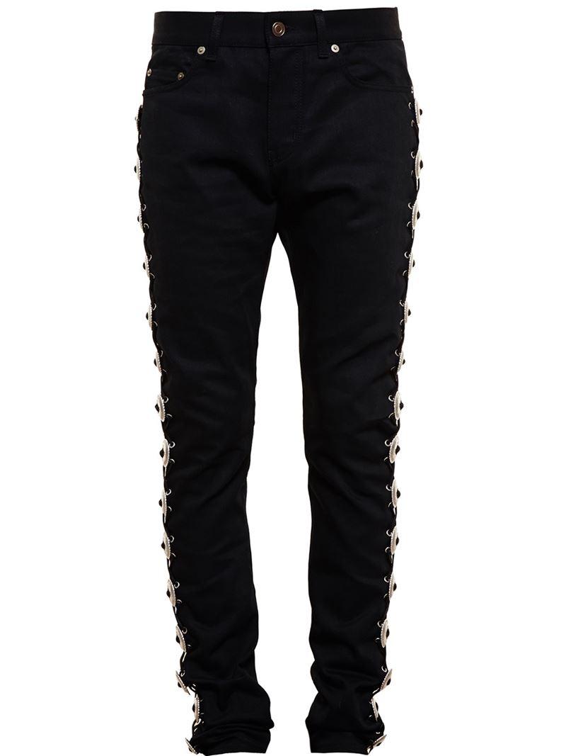 e7938dff521 Lyst - Saint Laurent Concho Embellished Jeans in Black for Men