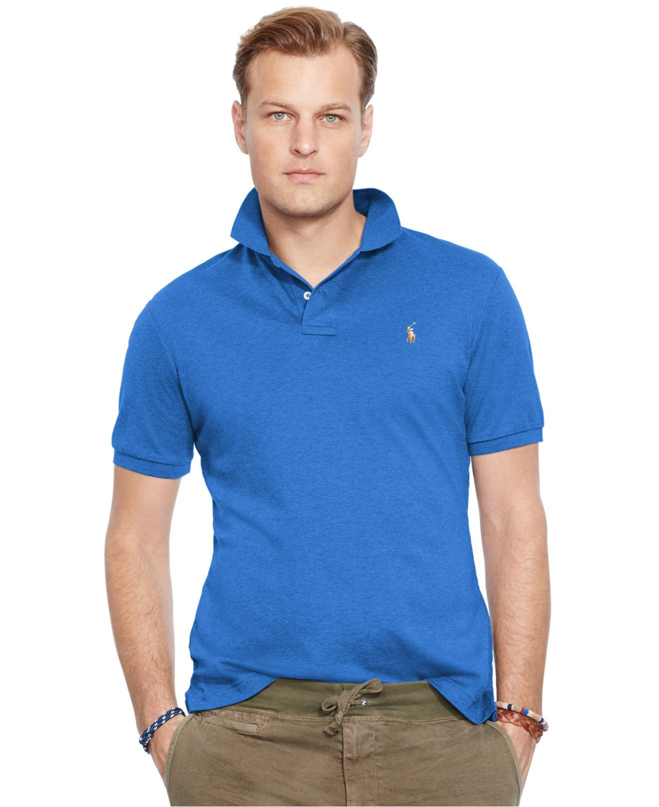 Polo ralph lauren big and tall pima soft touch polo shirt for Tall ralph lauren polo shirts
