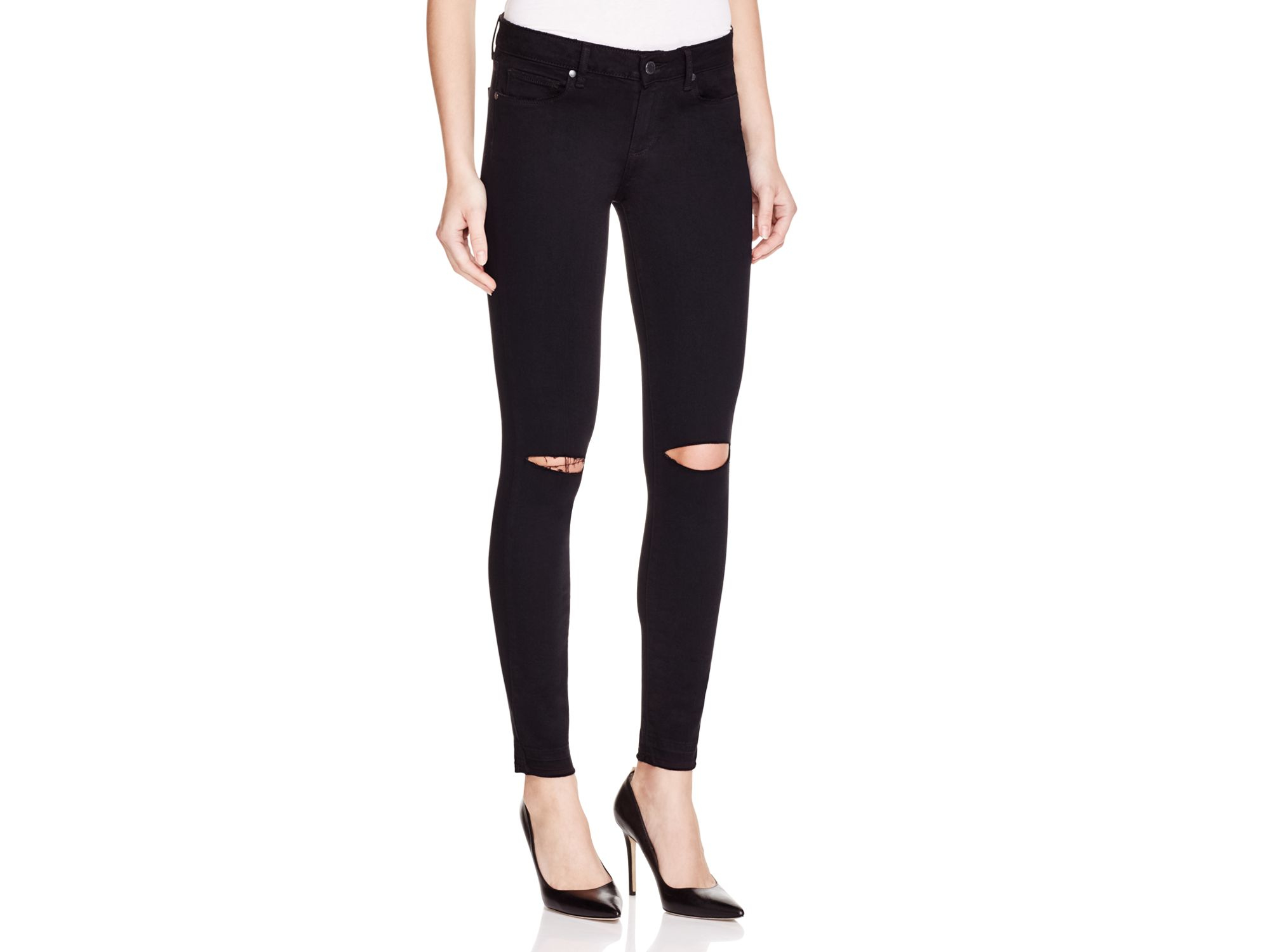 Paige Denim Black Skinny Jeans - Jeans Am