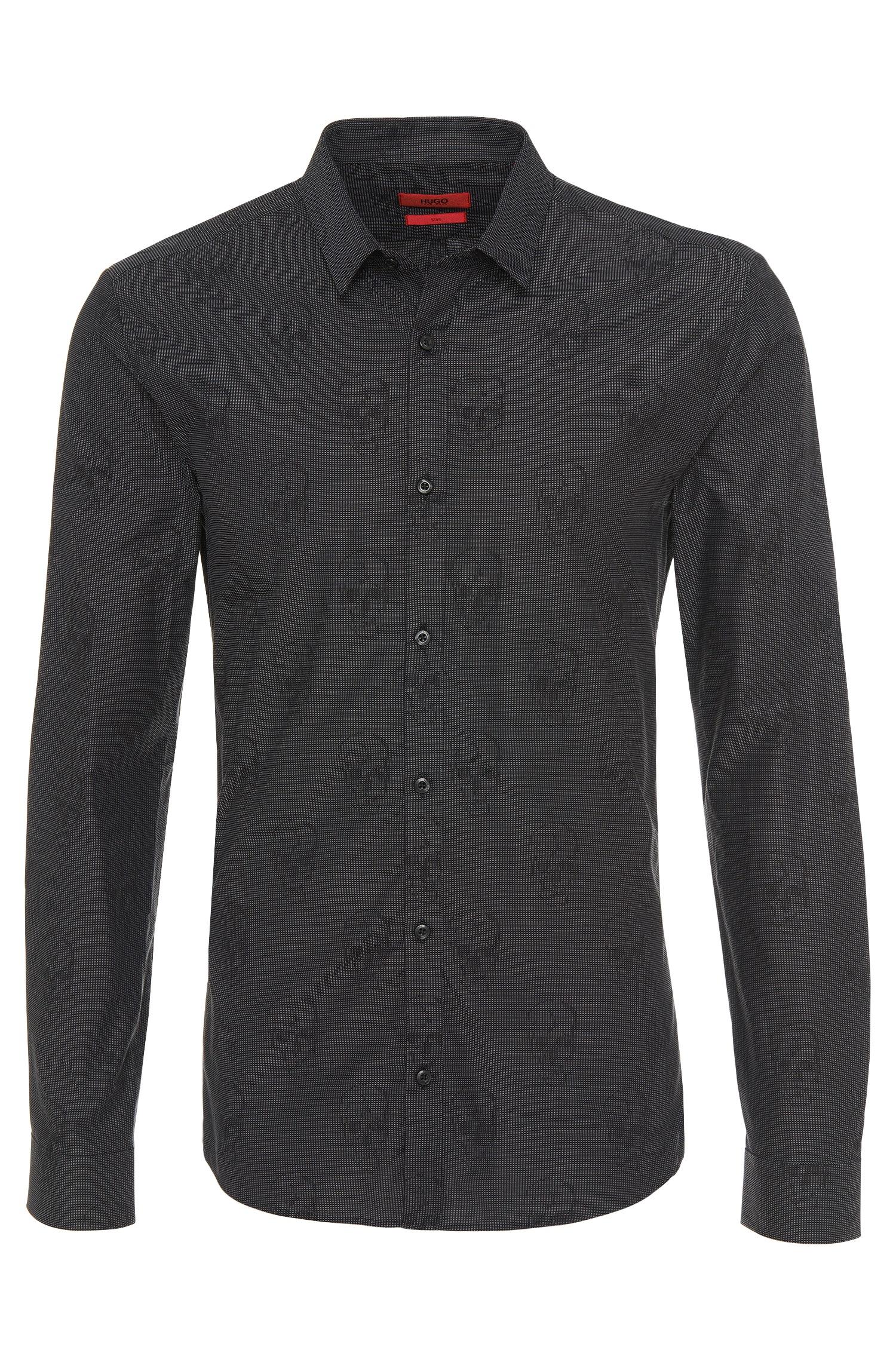 be63ef503c5 HUGO Slim-fit Shirt In Cotton   ero3  in Black for Men - Lyst