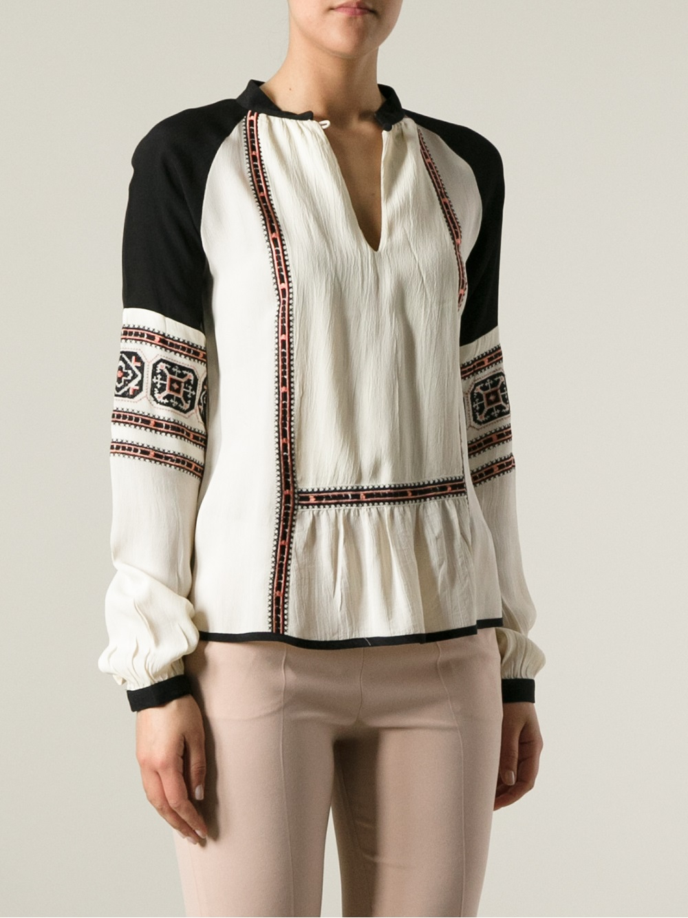 lyst day birger et mikkelsen folk tunic blouse in white. Black Bedroom Furniture Sets. Home Design Ideas