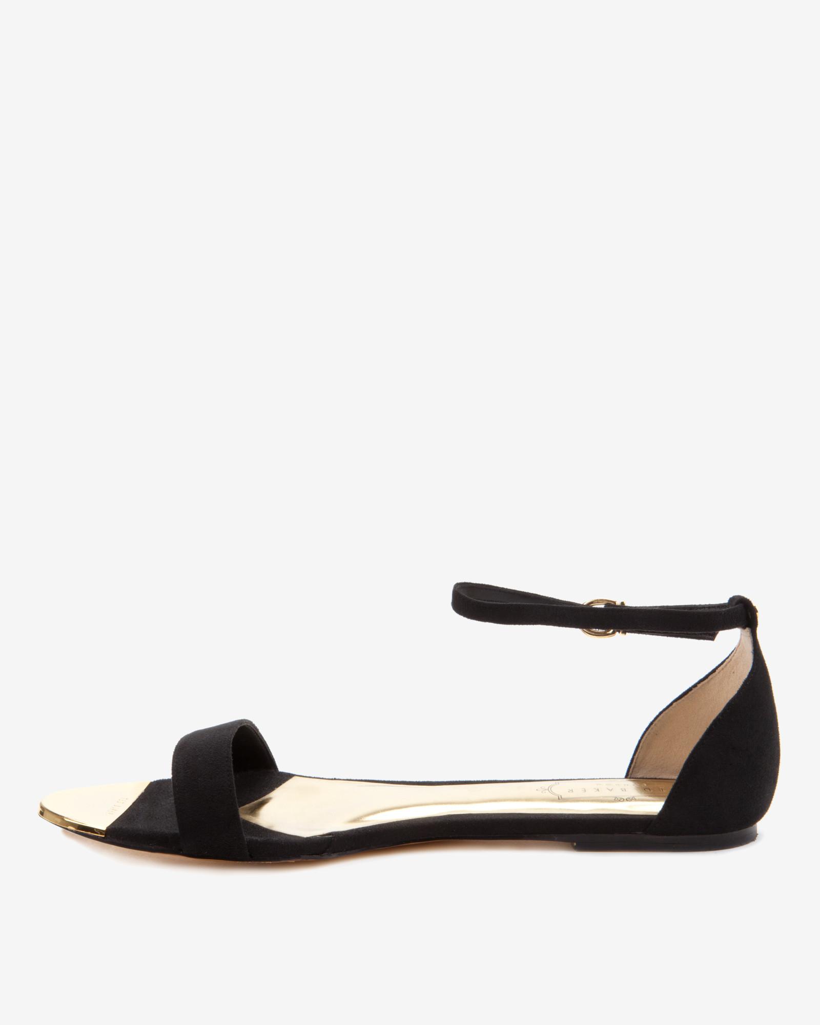 Lyst - Ted Baker Ankle Strap Sandals in Black