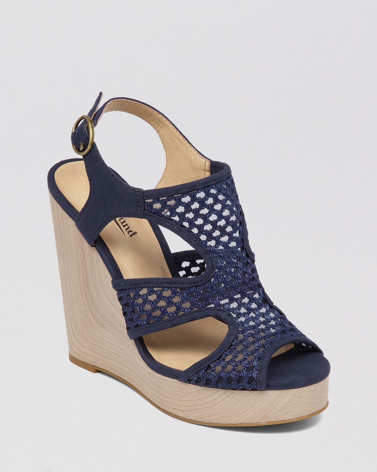 381479017 Lyst - Lucky Brand Open Toe Platform Wedge Espadrille Sandals Remy ...