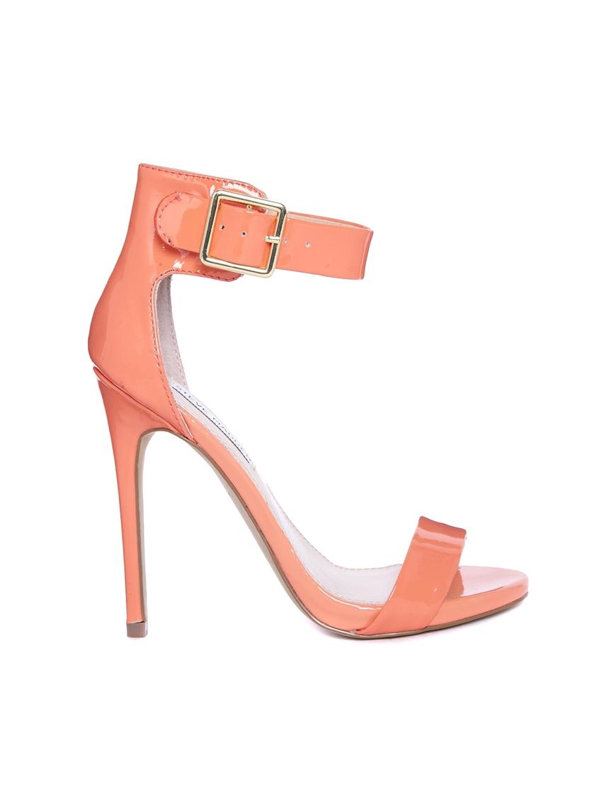 32851adff09 Lyst - Steve Madden Marlenee Coral Heeled Sandals