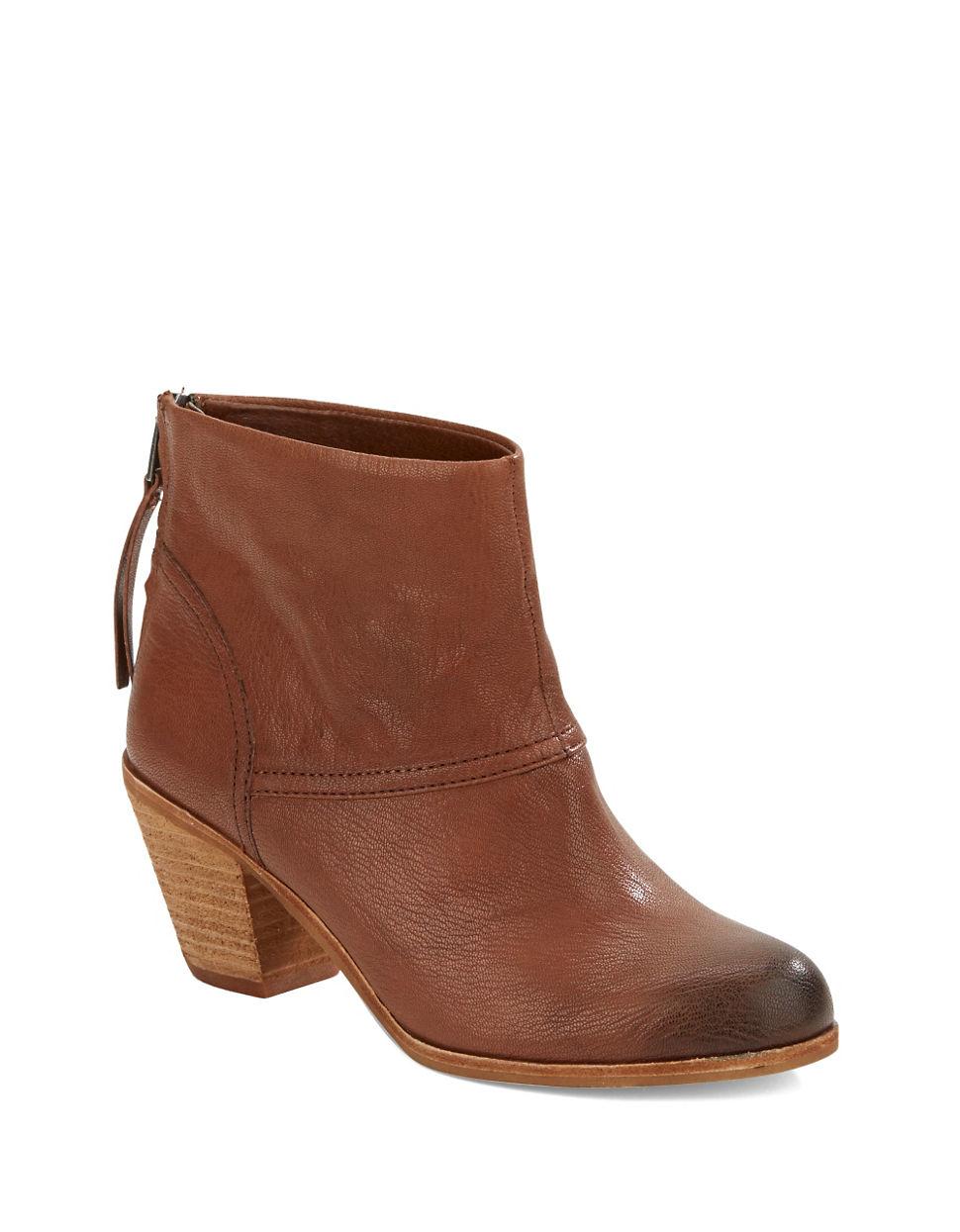 1fa3c63d70d9f Sam Edelman Larkin Leather Booties in Brown - Lyst