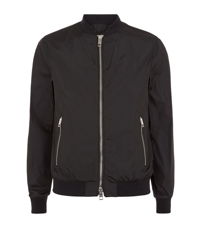 Burberry London Bomber Jacket In Black For Men Lyst