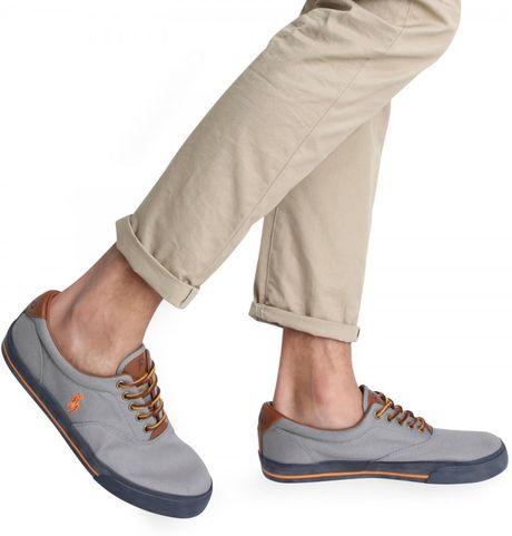 Polo Ralph Lauren Men S Vaughn Fashion Sneaker Grey