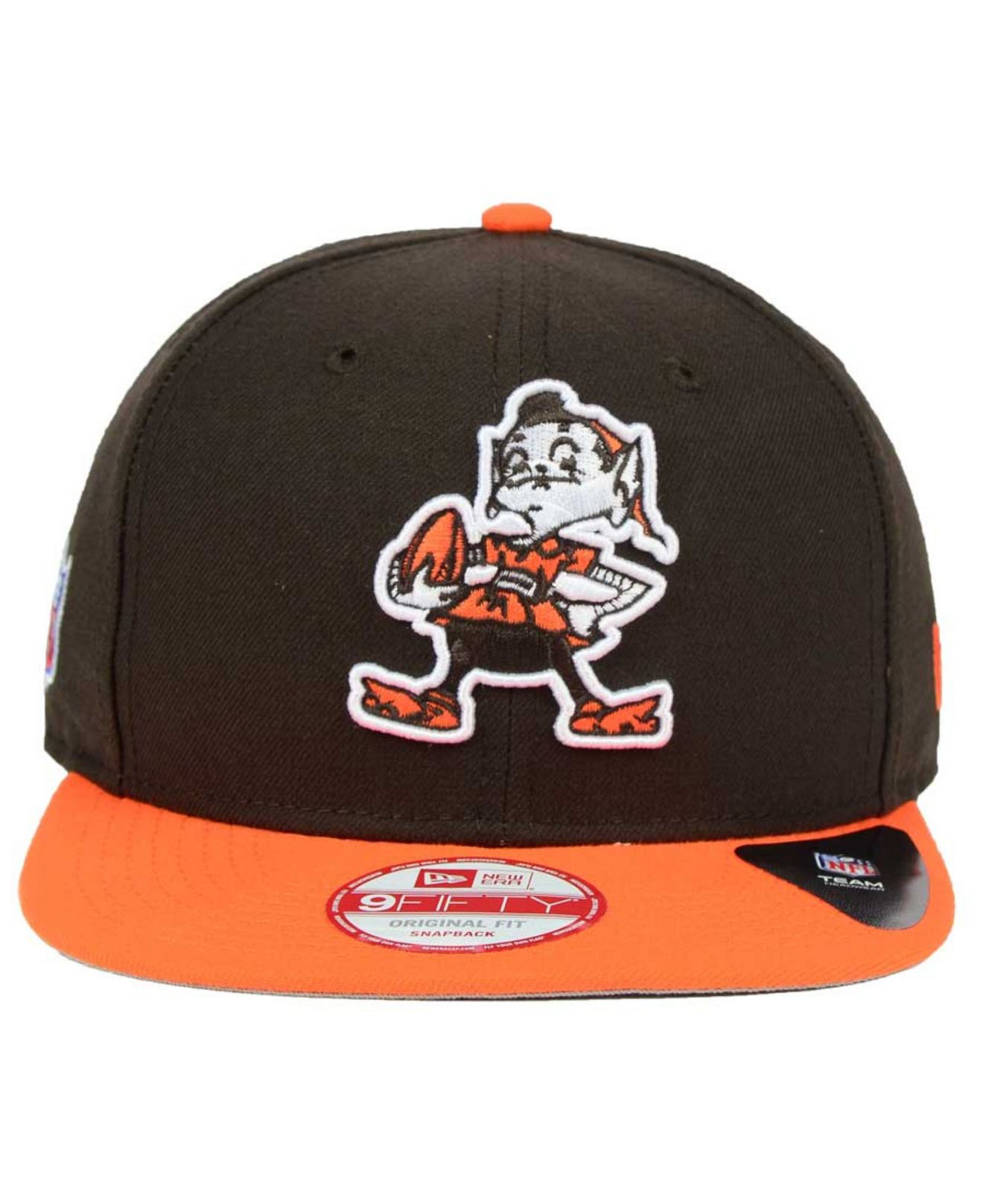 size 40 403a8 c2b19 ... canada lyst ktz cleveland browns historic baycik 9fifty snapback cap in  6ad82 b780e