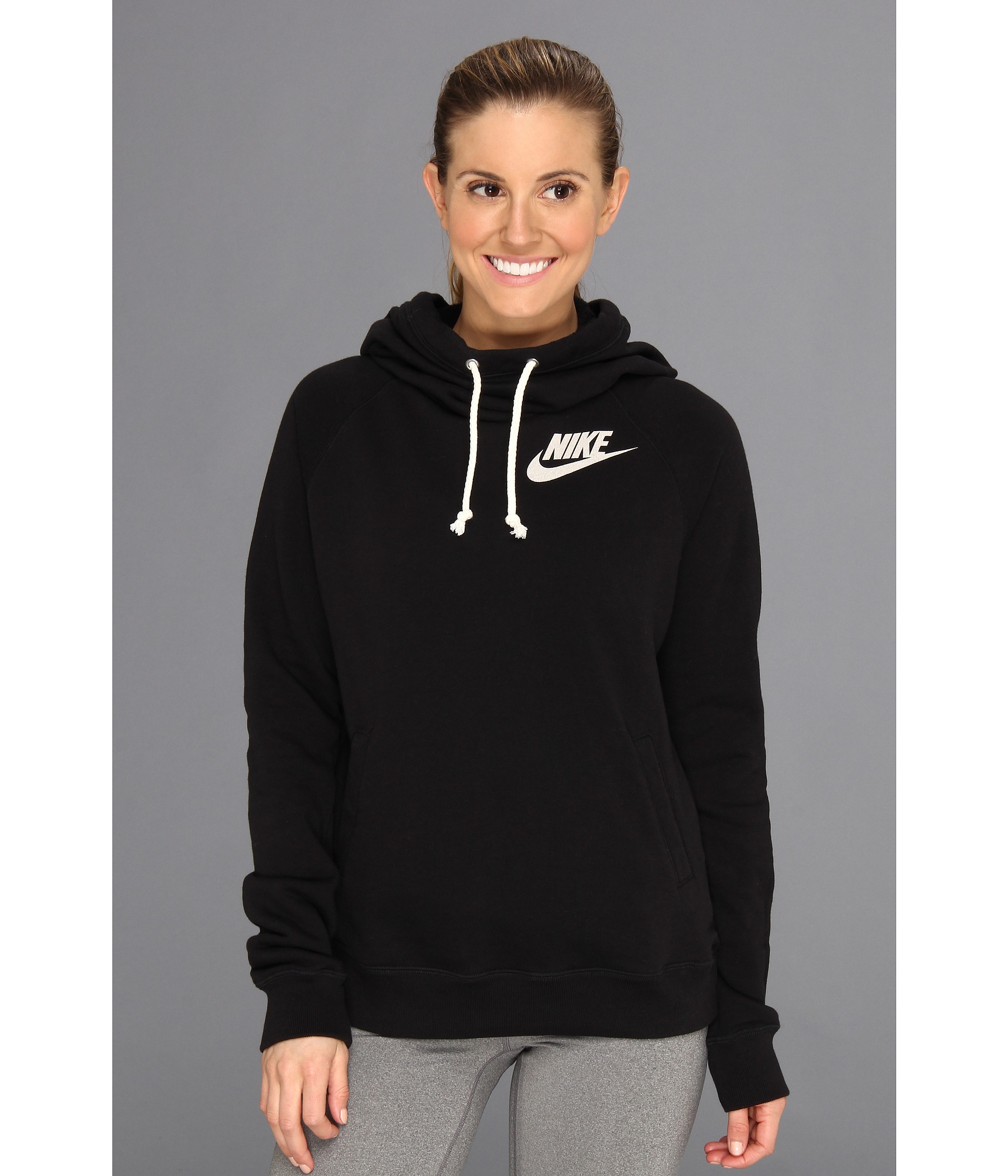 best service 9bc2b 7b4f7 Nike Rally Funnel Neck Hoodie in Black - Lyst
