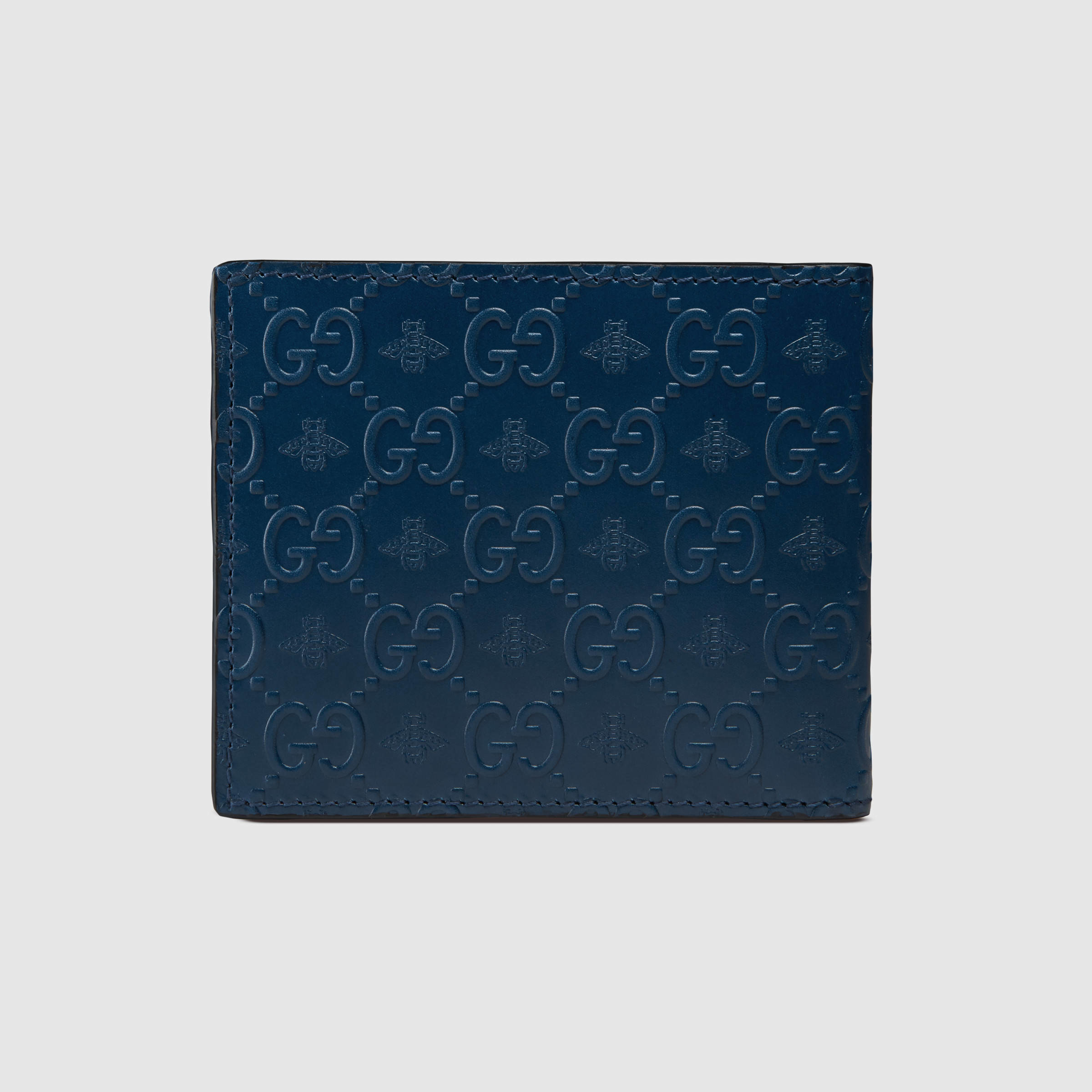1b4a2d84c9f766 Gucci Signature Bee Wallet in Green for Men - Lyst