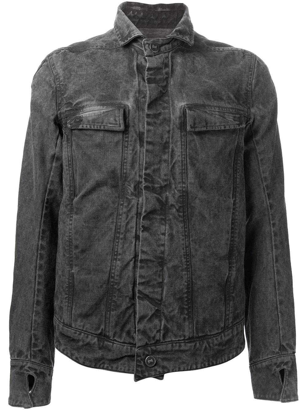 Boris bidjan saberi Denim Jacket in Gray for Men | Lyst