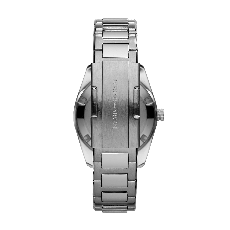 emporio armani ar6019 sportivo silver mens bracelet watch in gallery