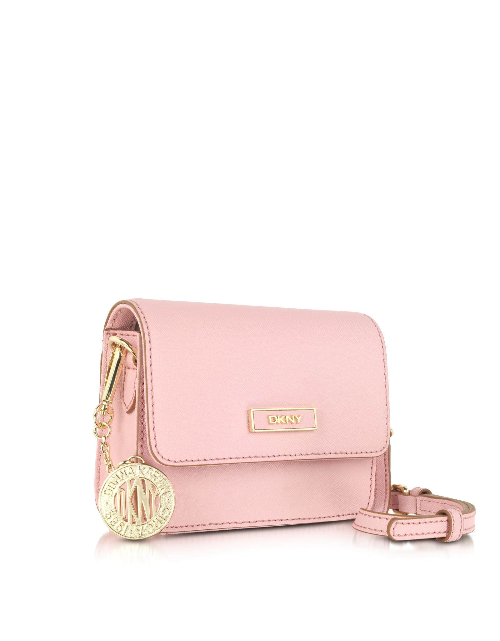 Dkny Bryant Park Mini Pink Saffiano Leather Crossbody Bag in ...