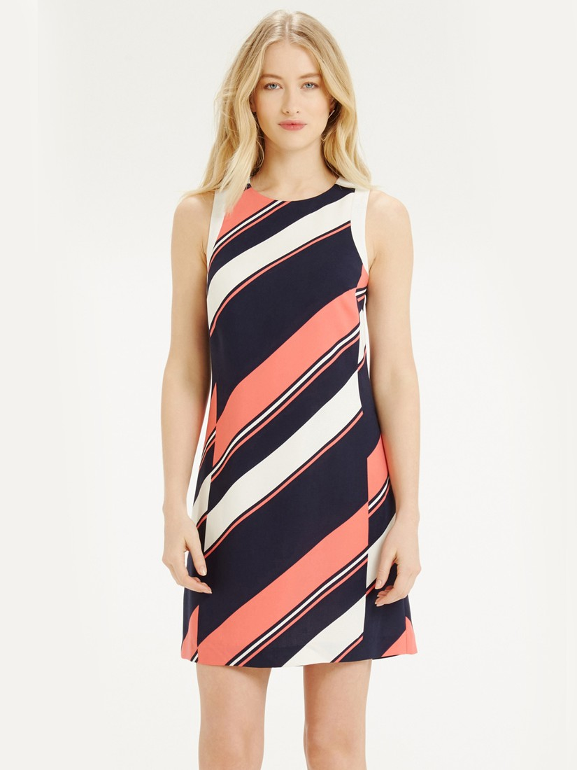 861d8d336c92 Oasis Diagonal Stripe Shift Dress - Lyst