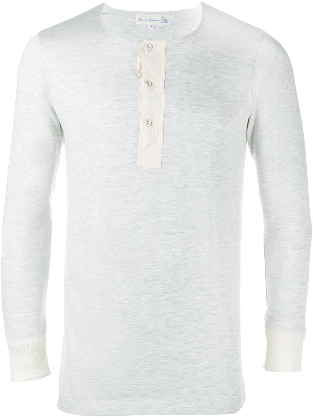 Mens Henley Long Sleeve Shirt
