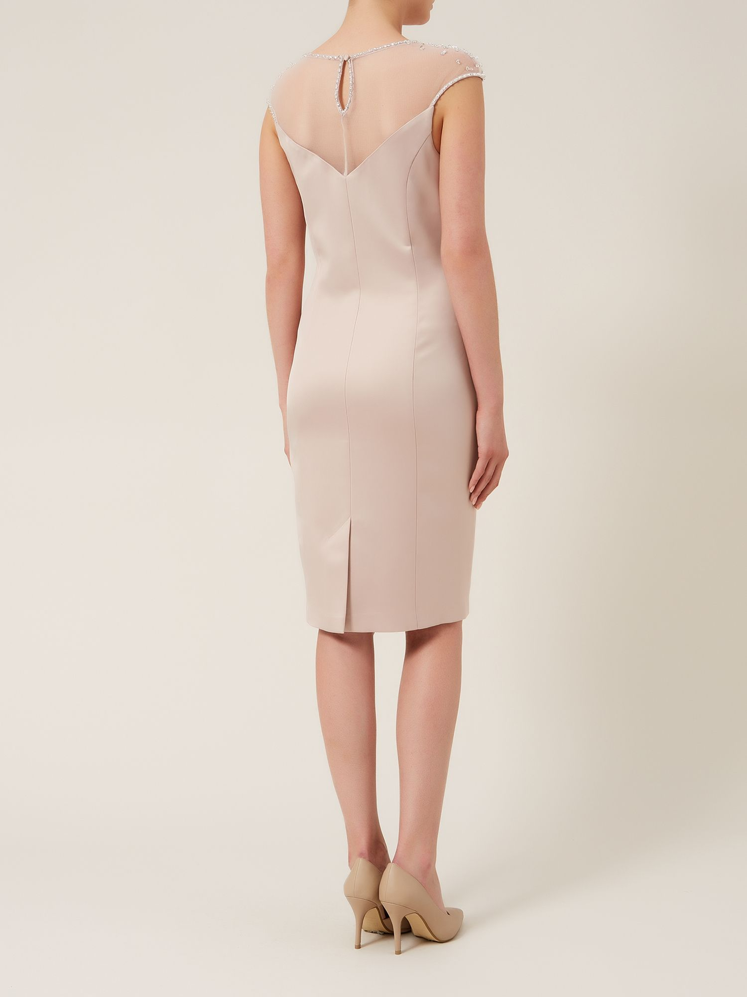 Alexon Sateen Embellished Dress In Natural Lyst Jolie Clothing Patsy Mini Gallery