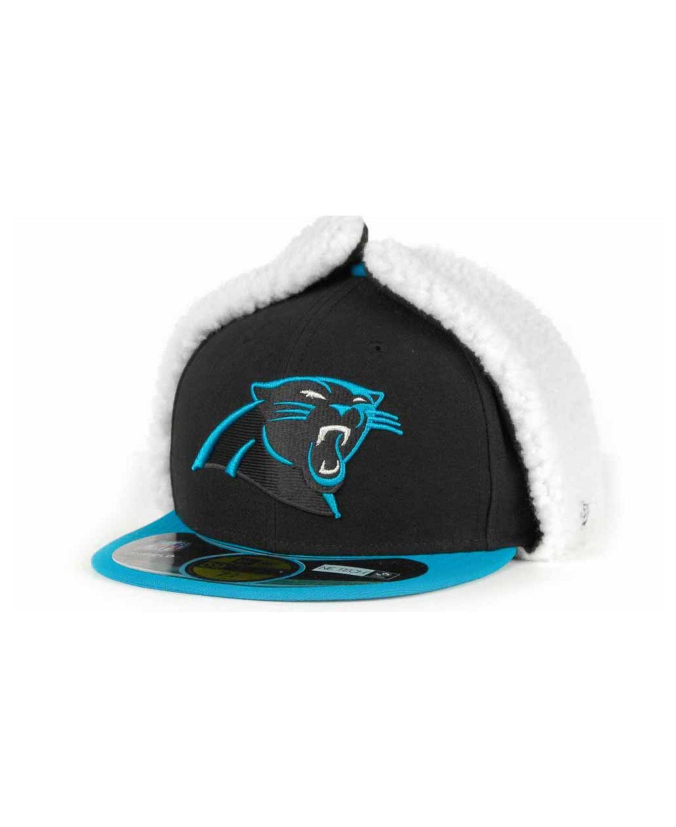 Lyst - KTZ Carolina Panthers On-field Dog Ear 59fifty Cap in Black ... 6fe0e6601fac