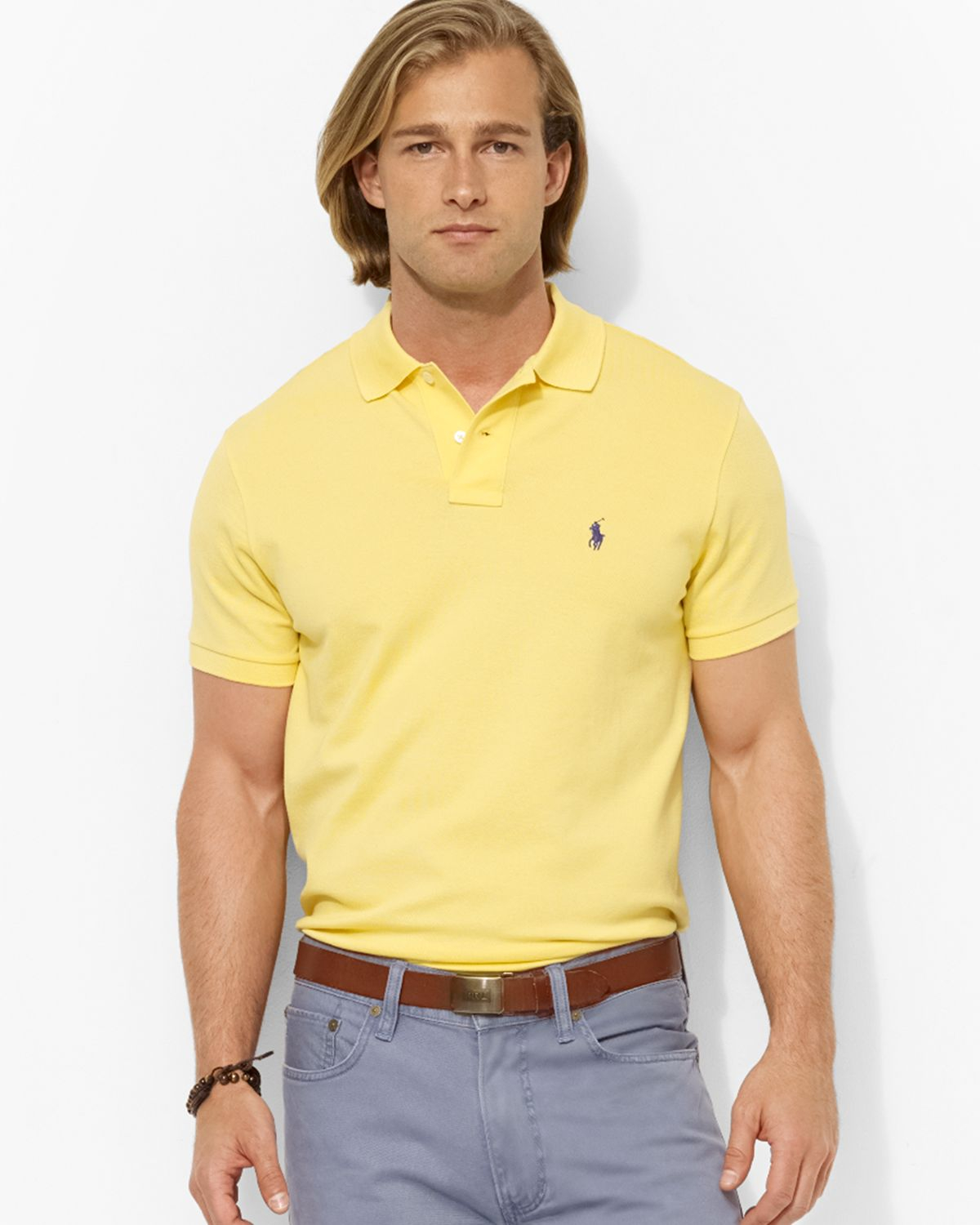 Lyst Ralph Lauren Polo Custom Stretchmesh Polo Shirt Slim Fit In