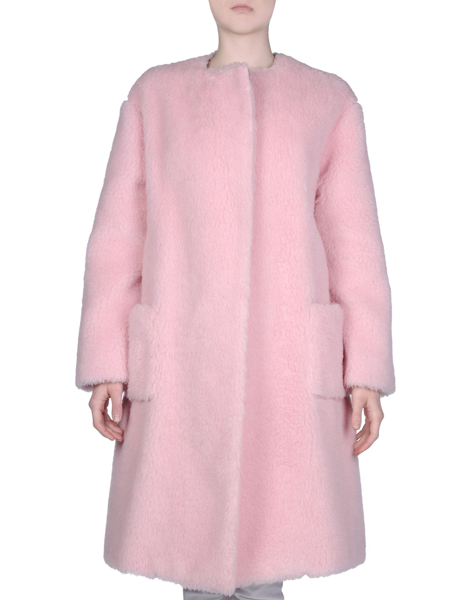 Rochas Coat in Pink | Lyst