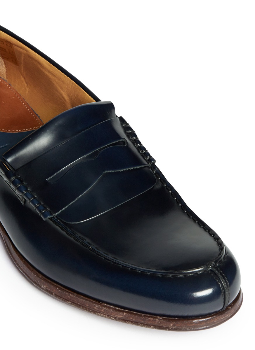 89892696f06 Lyst - Paul Smith  webb  Leather Penny Loafers in Blue for Men