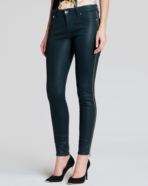 Lyst Ted Baker Jeans Modey Side Zip Skinny In Olive In