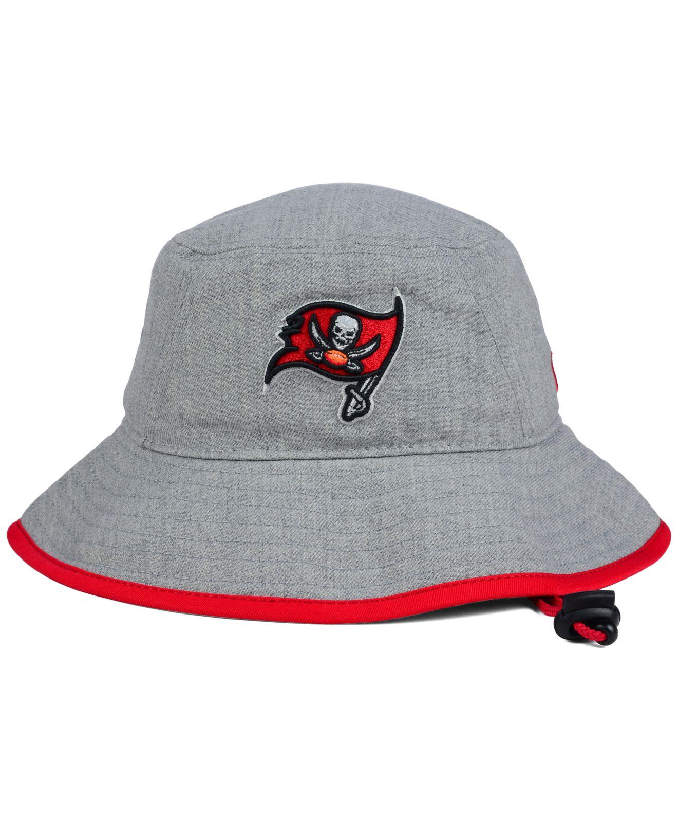 9bae9d63c62 Lyst Ktz Ta Bay Buccaneers Nfl Heather Gray Bucket Hat In