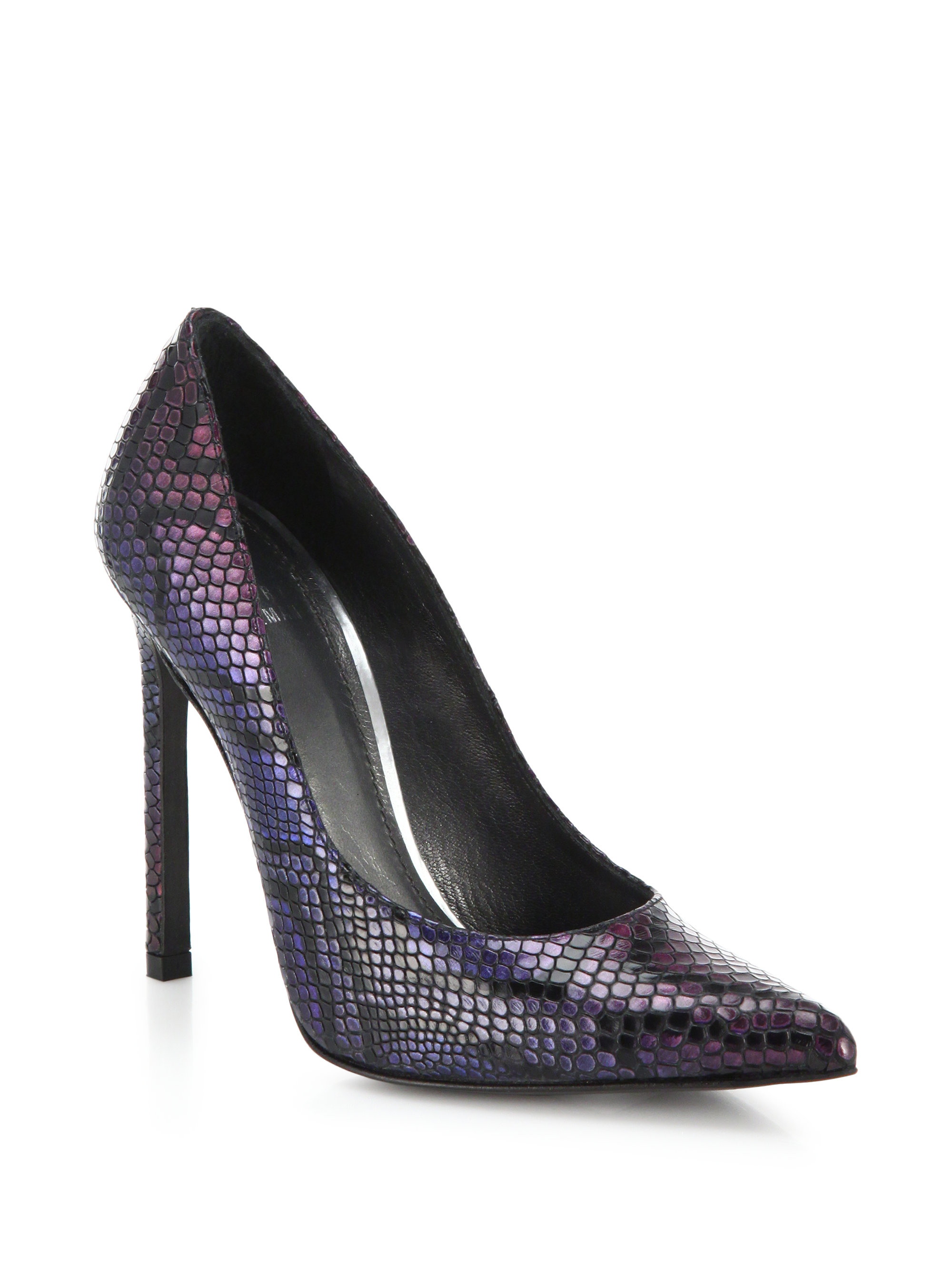 Purple Snakeskin Heels