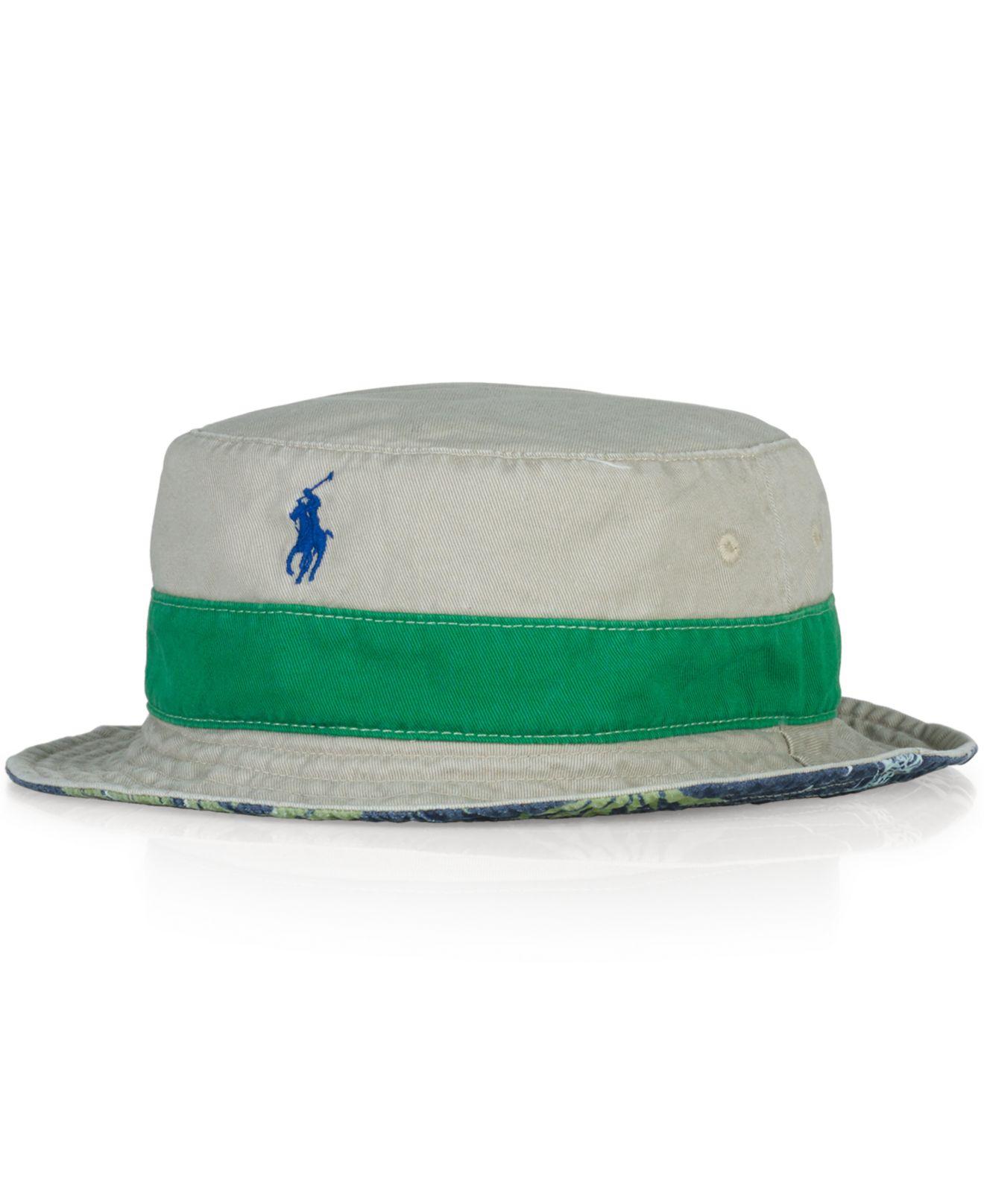 Lyst - Polo Ralph Lauren Reversible Tropical Bucket Hat for Men 684d9619512a