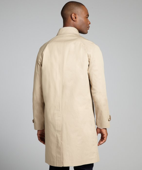 Prada Coloniale Cotton Twill Car Coat Trench in Beige for Men ...