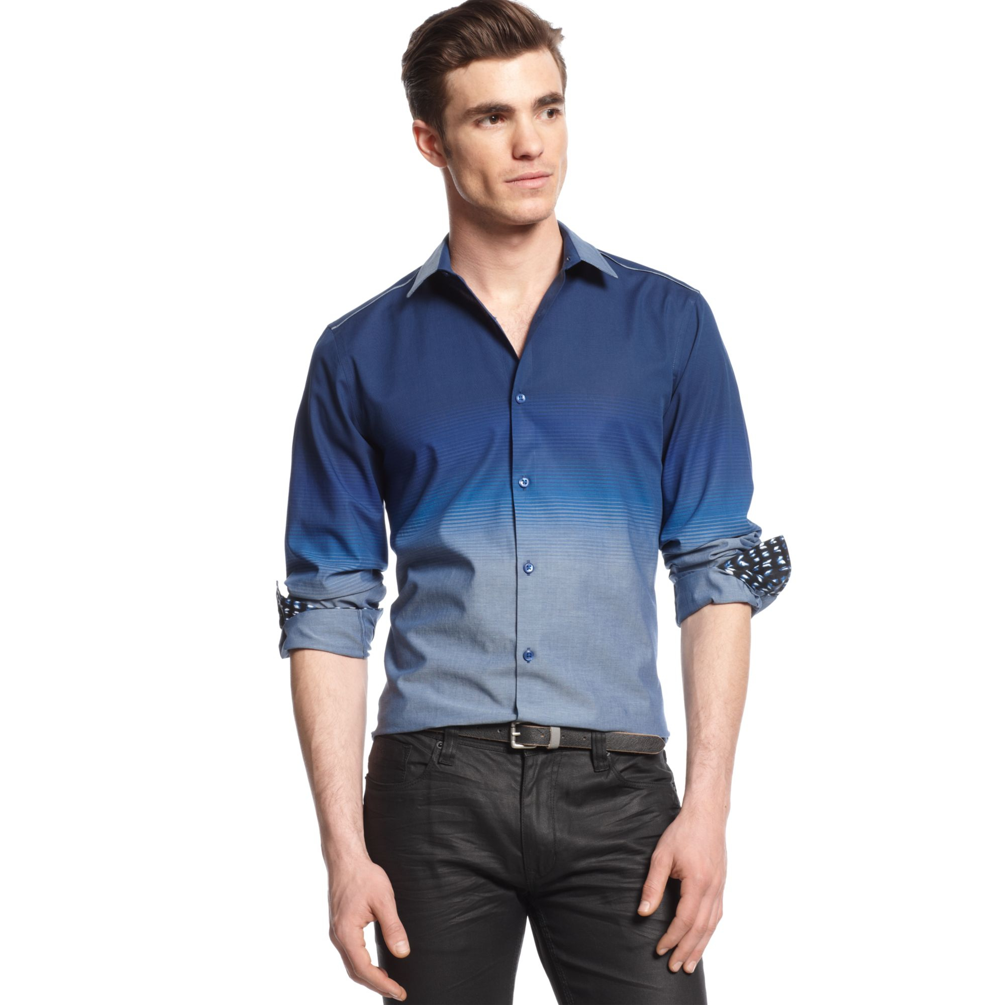 Lyst Inc International Concepts Long Sleeve Ombre Shirt