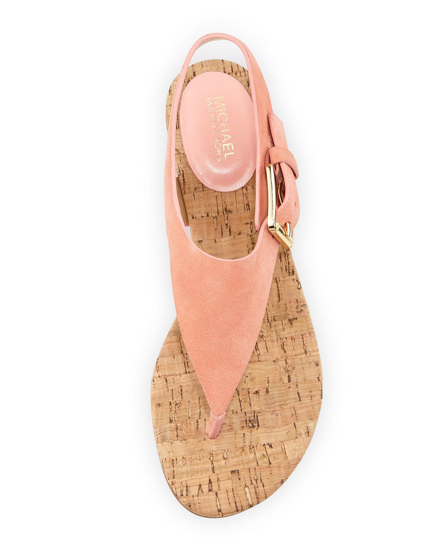 91c873c341 MICHAEL Michael Kors London Suede Low-heel Thong Sandal in Pink - Lyst