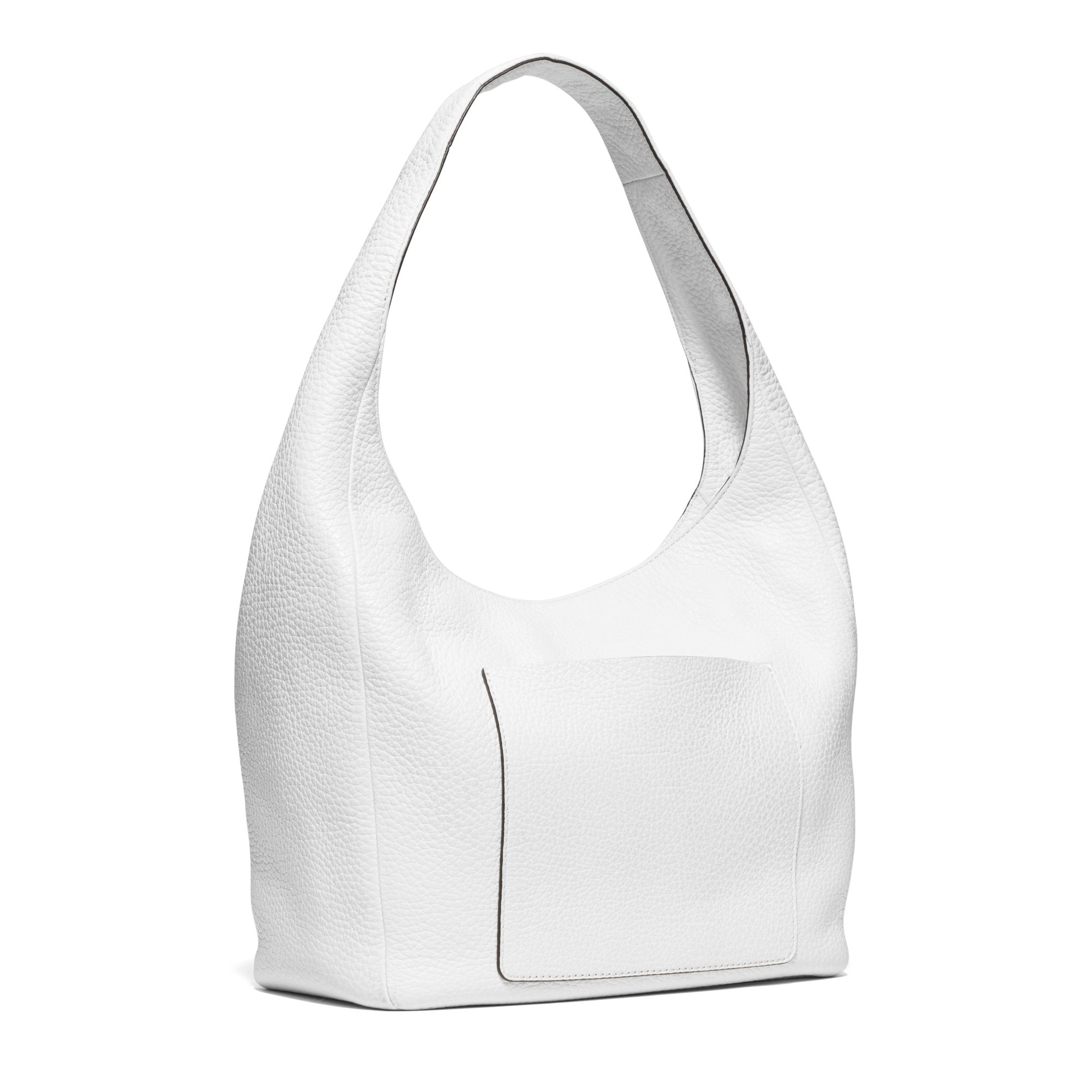Michael kors Lena Large Leather Shoulder Bag in White | Lyst