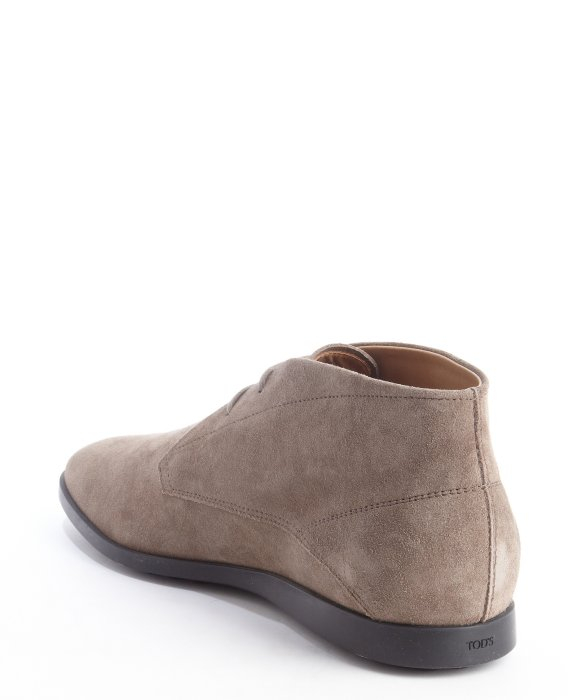Tod's Taupe Suede Lace Up Chukka Boots in Natural for Men   Lyst