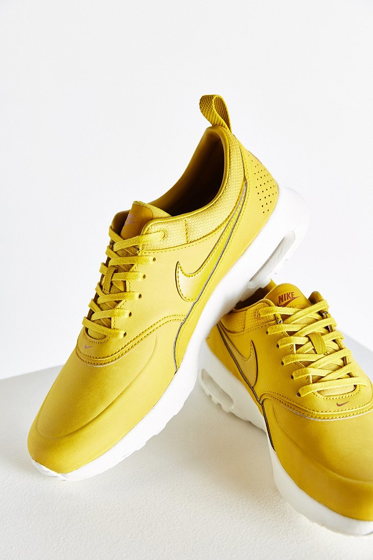 nike air max thea premium sneaker in yellow lyst. Black Bedroom Furniture Sets. Home Design Ideas