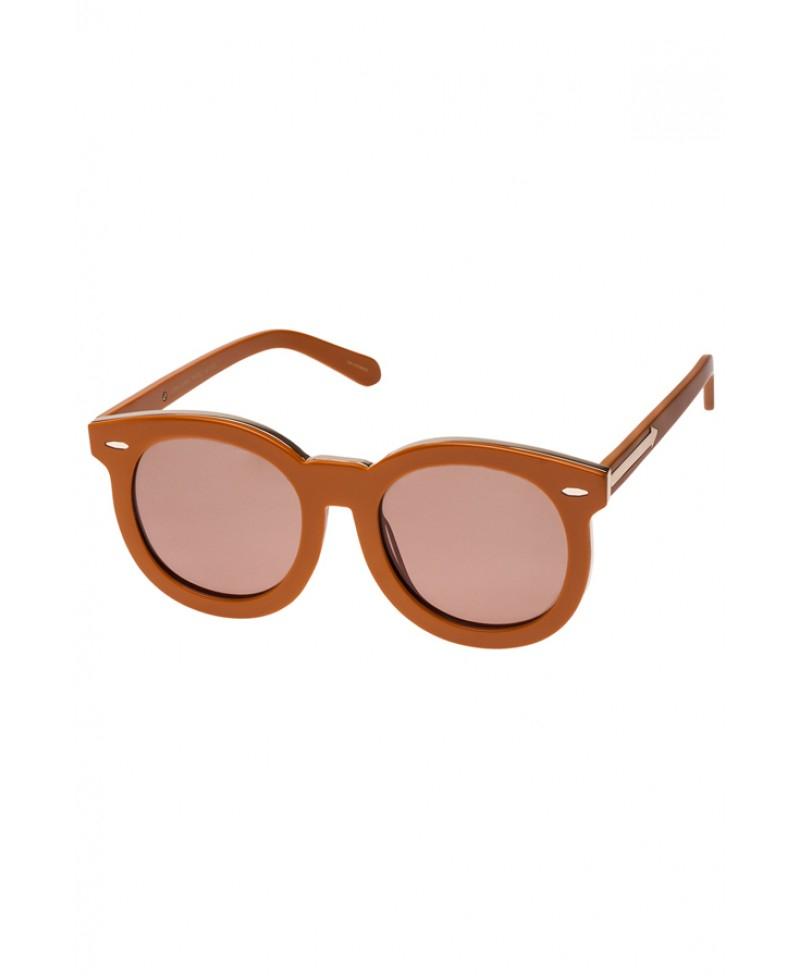 3bb41c83e0fce Karen Walker Super Duper Thistle Tan & Gold Sunglasses in Brown - Lyst