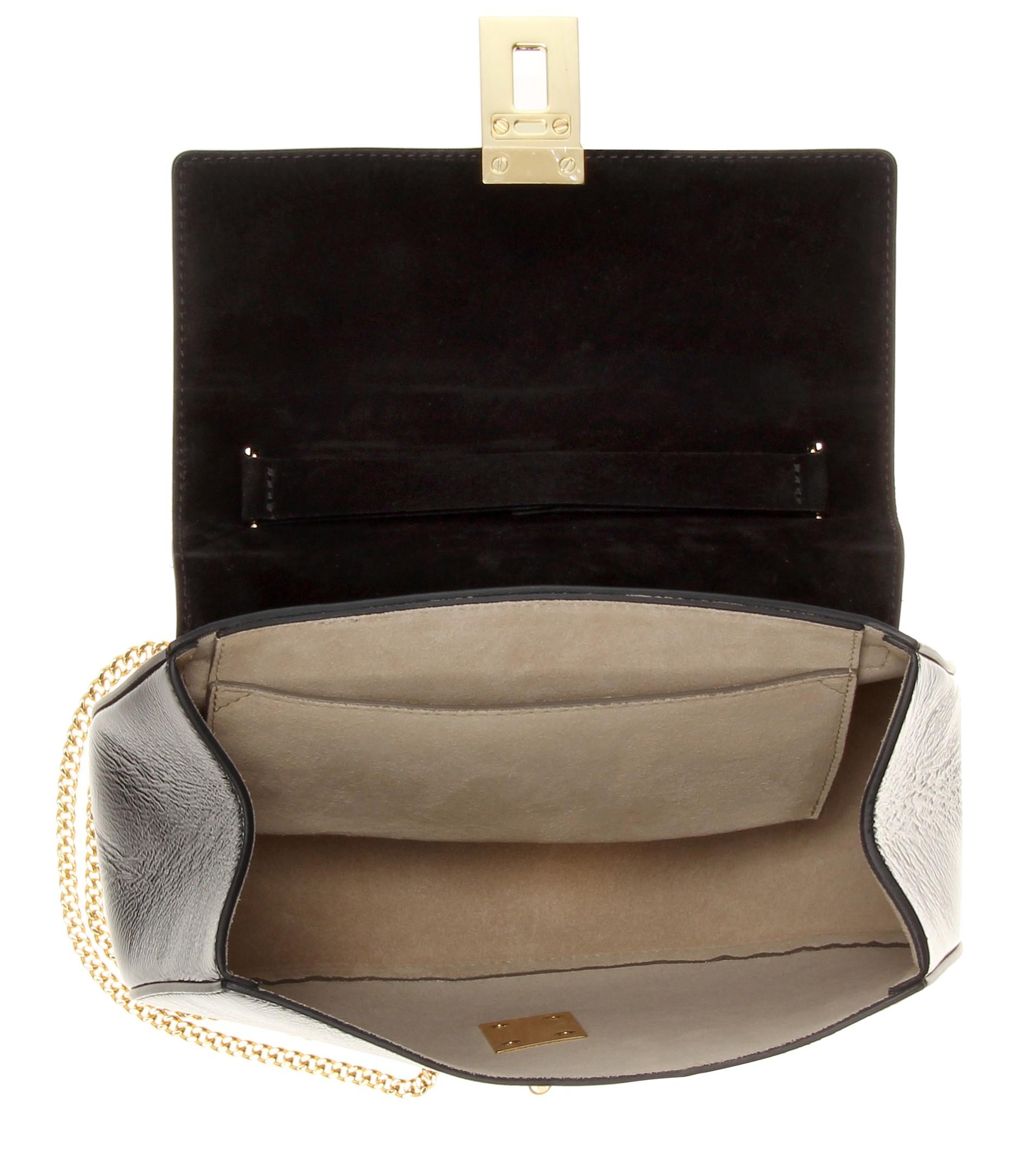 Chlo�� Drew Patent-Leather Shoulder Bag in Black | Lyst