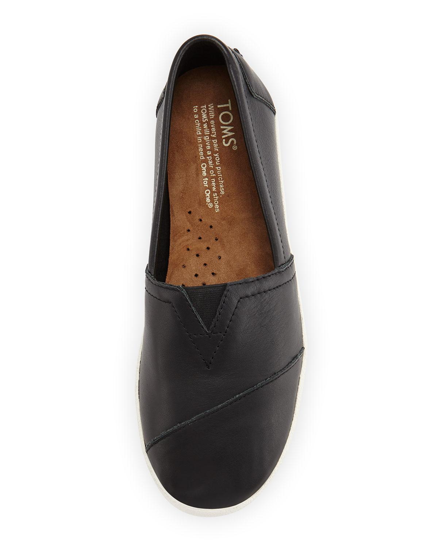 85dacb3cf19 Lyst - TOMS Avalon Leather Slip-on Sneaker in Black
