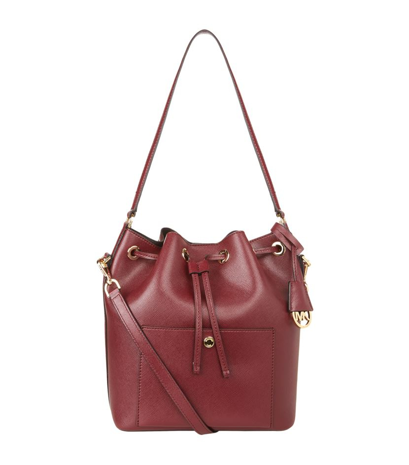 MICHAEL Michael Kors Greenwich Leather Bucket Bag in Purple - Lyst a3fc115127a3b