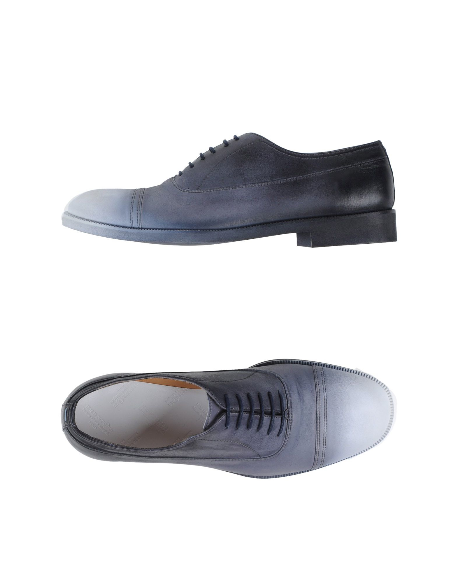 maison margiela lace up shoes in gray for men grey lyst. Black Bedroom Furniture Sets. Home Design Ideas