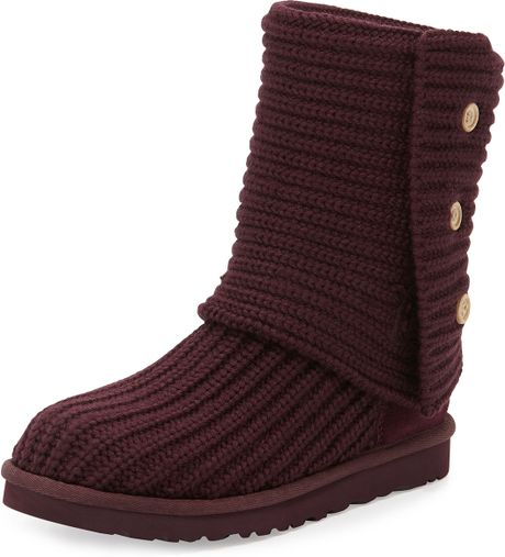 Ugg Classic Cardy Crochet Boot in Red (PORT) Lyst